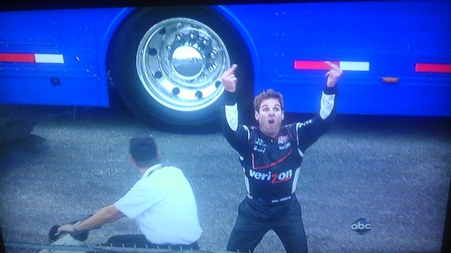 Yes, This IndyCar Driver Needed Both Middle Fingers For His Salute To The Race Officials Live On ABC (Update With Video)