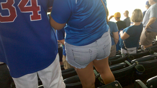 This Lady Left Two Used Tampons Under Her Seat At Wrigley Field