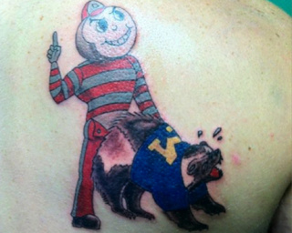 This Buckeyes Fan Deemed It Wise To Get An Anal-Rape Themed Tattoo