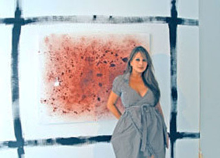 Artist Paints Canvases With Her Own Menstrual Blood