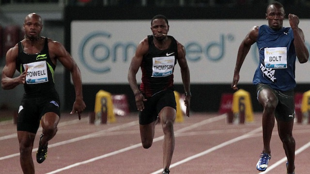 Asafa Powell Beats The Clock, In Lieu Of Beating Usain Bolt