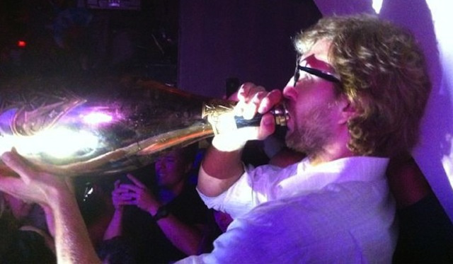 Here's Finals MVP Dirk Nowitzki Das Booting An $80K Bottle Of Champagne