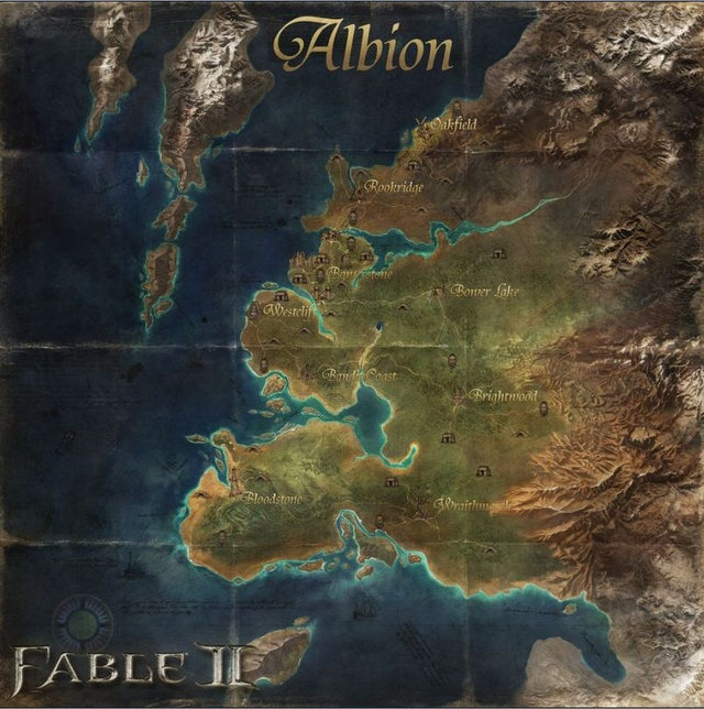 Print Up A Fable II Albion Wall Map