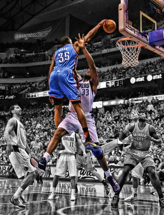 The Photo Of Kevin Durant's Dunk Will Replace The Taj Gibson Poster That Replaced Bruce Lee Posters Across America
