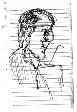 Courtroom Sketches Of A Guy Doing Courtroom Sketches At The Barry Bonds Trial