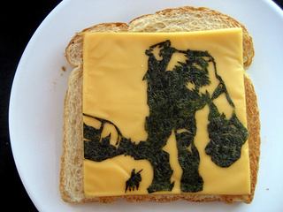 A Grilled Cheese Shadow of the Colossus