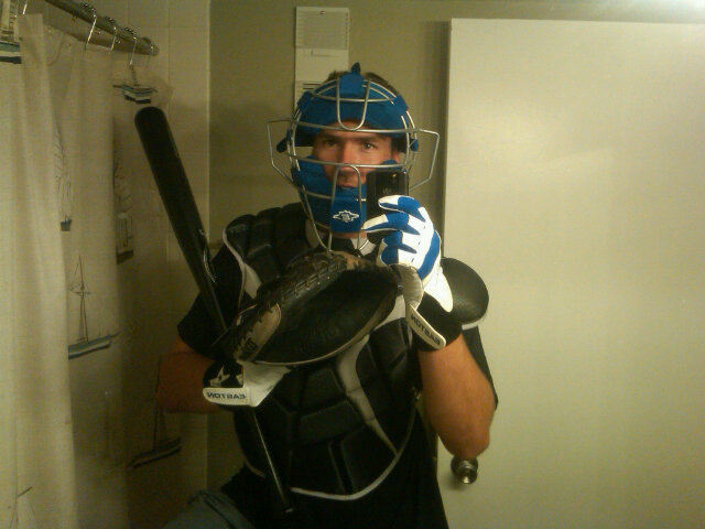 Finally, An Athlete Wears Protection In Self-Taken Bathroom Photo