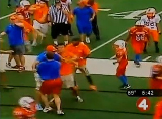 Dads In Ugly Polo Shirts Punch Each Other At Pee Wee Football Game