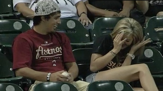 Chivalry Is Dead: Man Ducks Foul Ball Before It Hits Girlfriend
