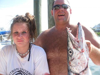 Father Of The Year Makes Daughter Pose With Barracuda That Ripped Her Flesh Open