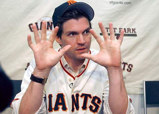 Cockblocked by Barry Zito.  GREAT MOMENTS IN DRUNKEN HOOKUP FAILURE