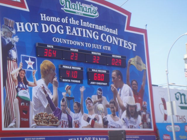The 4th Of July Hot Dog Eating Contest Was Just A Big Old Mess Of Sweat And Vomit