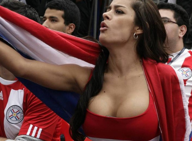 Paraguay Girl, Larissa Riquelme, Will Shed What Little Clothing She Wears If Team Wins Cup
