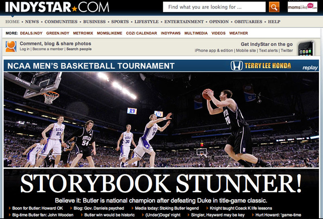 "Indy Newspaper, Butler Cheerleader Botch Their ""Victory"" Celebrations"