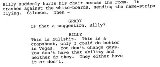 Billy Beane Is A Golden God: Excerpts From The Scrapped Moneyball Script