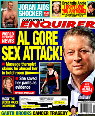 "Enquirer: Al Gore Accused Of ""Sexually Attacking"" Portland Masseuse"