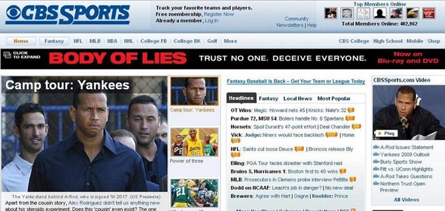 Unfortunate Ad Placement: Alex Rodriguez Edition