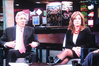 Kim Jones and Her Lovely 'Hooker Boots' Grace the ESPN Set