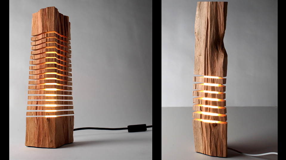 Wooden lamps show the light within gizmodo australia for Lamp wooden