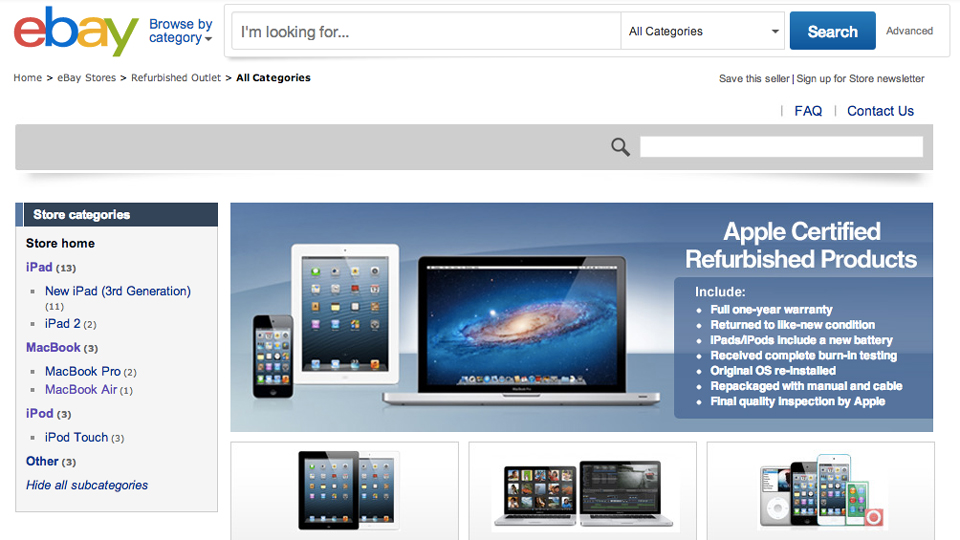 Apple's Weird Refurbished Ebay Store Is Gone