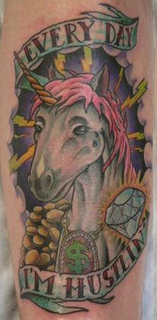55 Bad Unicorn Tattoos