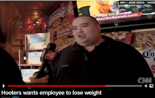 "Hooters Says Waitress Is ""Too Fat,"" Offers Her Gym Membership"