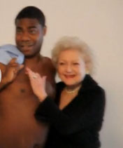 Video:  Betty White Gropes Topless Tracy Morgan