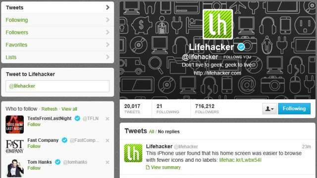 Follow Lifehacker on Twitter
