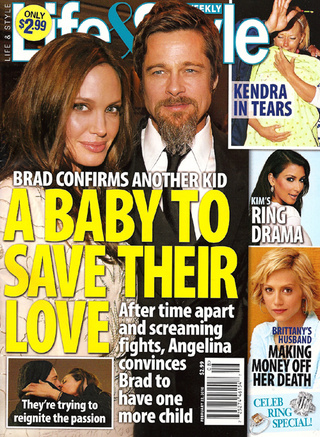 This Week In Tabloids: Brad & Angie Fake It While Jen & Gerard Make It