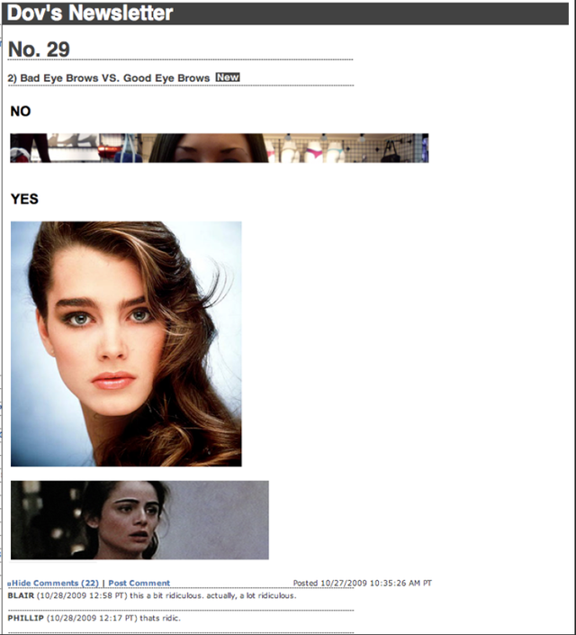 "American Apparel CEO: Brooke Shields' Eyebrows A Definite ""Yes"""