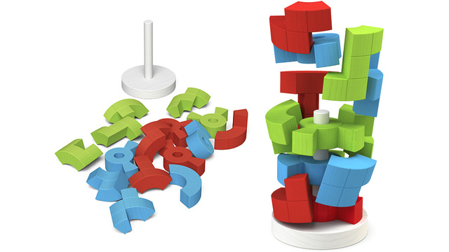Logiq Tower Stacking Puzzle: