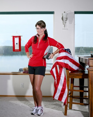 "Sarah Palin Breaks ""Flag Code"" In Runner's World Magazine"