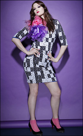 Beth Ditto Makes Plus-Size Clothing Fun, Sequined, 80s