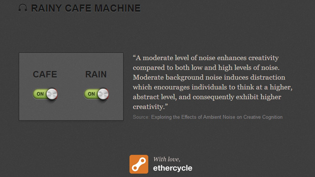Rainy Cafe Machine Plays