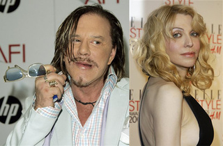 Mickey Rourke & Courtney Love: New Couple?