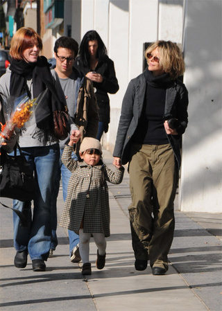Meg Ryan's Tweed Toddler Gets A Pair Of Helping Hands