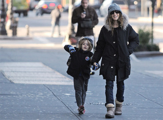 SJP & Son Are Still Celebrating Last Week's Win