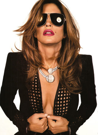 Cindy Crawford In French Vogue: 42, Half-Naked & Smoking Hot