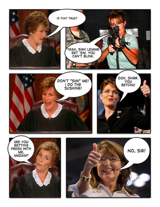 Comic Confrontations: Judge Judy Vs. Sarah Palin