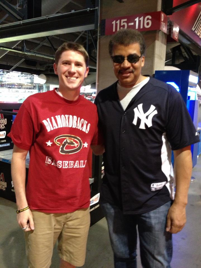 Neil deGrasse Tyson at the Diamondbacks game? Neil deGrasse Tys…