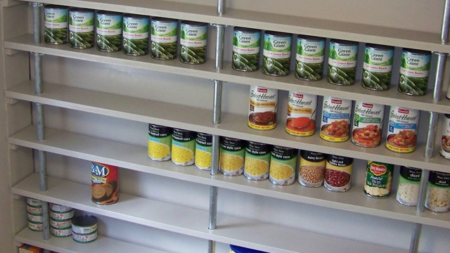 Click here to read Build an Affordable, Custom Pantry Shelving System with Pipes