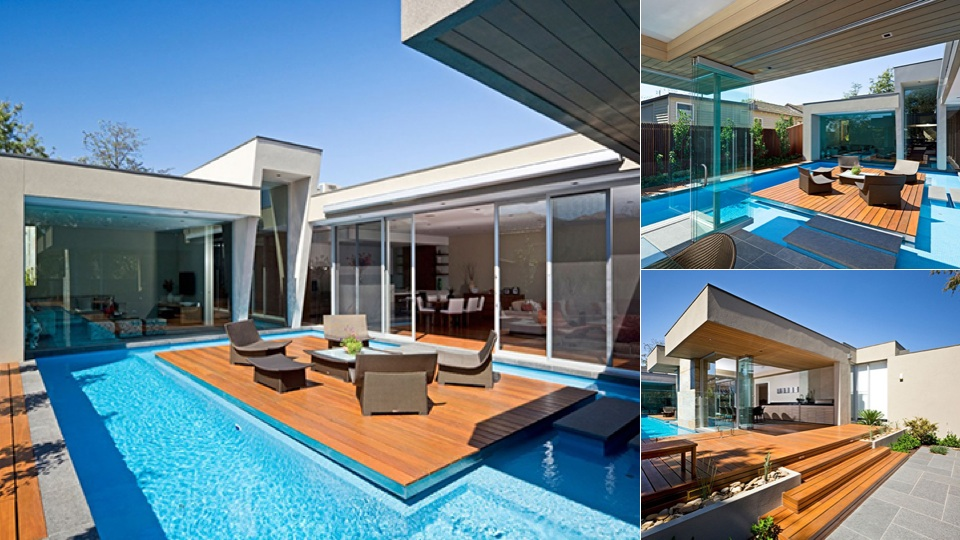 This Australian House Has A Pool With An Island And