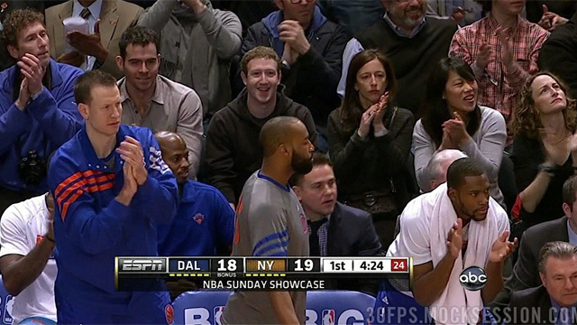 Even Mark Zuckerberg Is Watching the Knicks Game Right Now