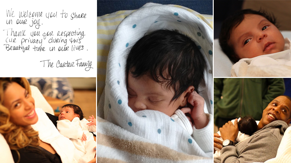 behold the first photos of blue ivy carter