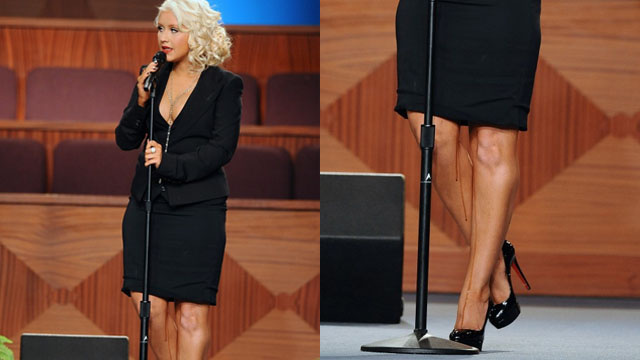 What Was Dripping Down Christina Aguilera's Legs Two Days Ago?