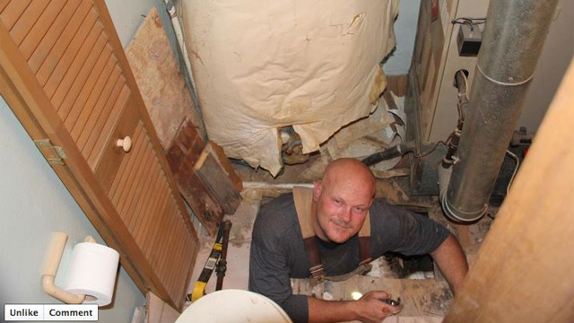 Joe the Plumber Witnessed Doing Actual Plumbing (for a Photo Shoot)