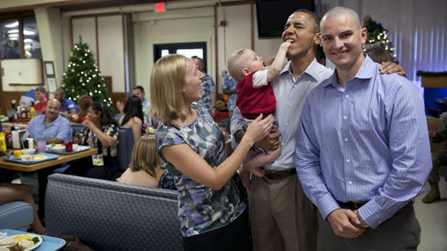President Obama Eats Traditional Christmas Baby