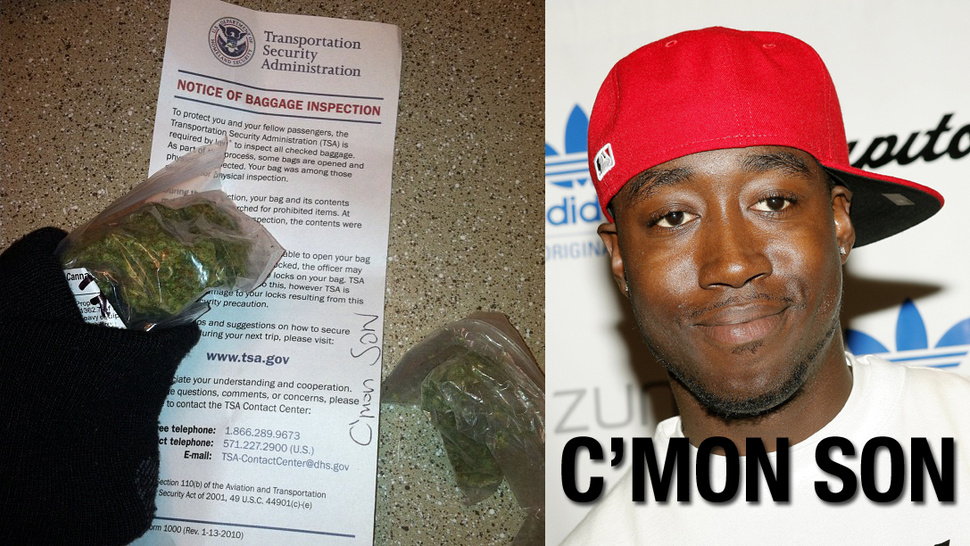 TSA Agent Leaves Nice Note After Finding Rapper's Weed