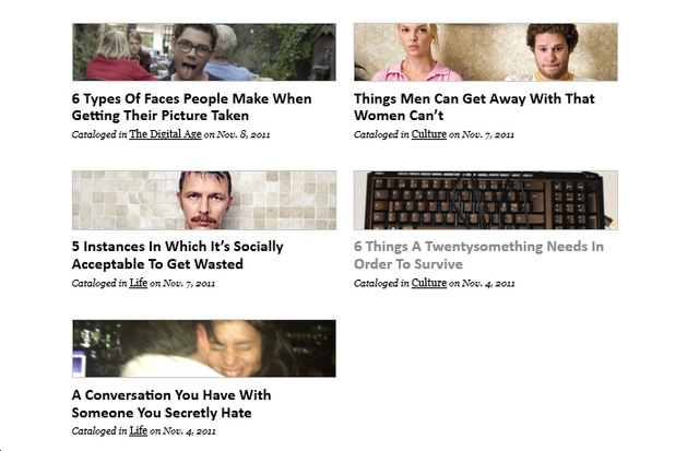 The Five Types of Posts You Find at Thought Catalog