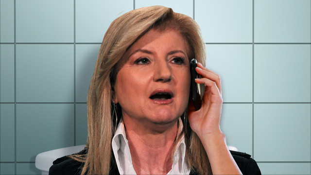 Does Arianna Huffington Talk on the Phone While Pooping?